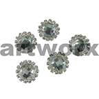 10x10mm Round Crystal with Diamante Embellishment Gem