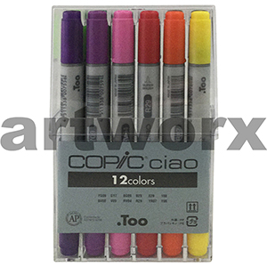 12 Basic Colours Ciao Copic marker Set