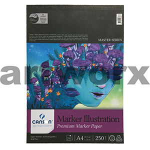 250gsm A4 20 Sheet Canson Marker Illustration Pad