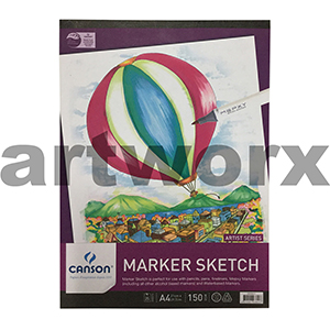 150gsm A4 25 Sheet Canson Marker Sketch Pad