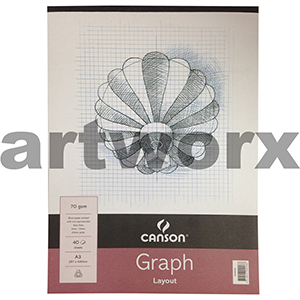 70gsm 2mm A3 40 Sheets Canson Graph Pad