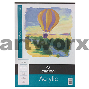 245gsm A2 15 Sheet Acrylic Canson Pad