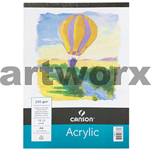 245gsm A4 15 Sheet Acrylic Canson Pad
