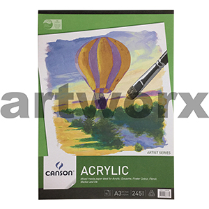 245gsm A3 15 Sheet Acrylic Canson Pad