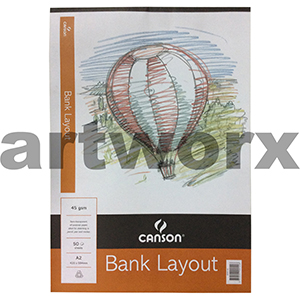 45gsm A2 50 Sheets Canson Bank Layout Pad