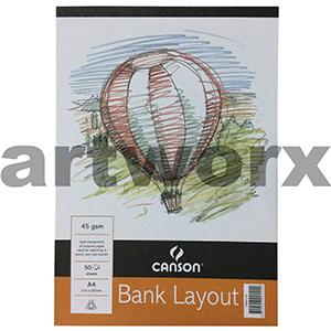 45gsm A4 50 Sheets Canson Bank Layout Pad