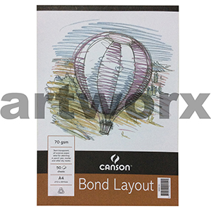 70gsm A4 50 Sheet Canson Bond Layout Pad