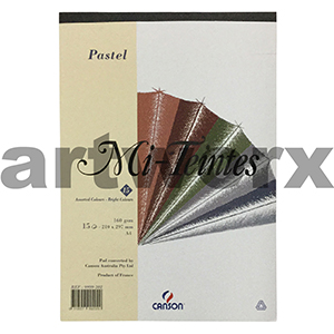 160gsm A4 15 Sheet Bright Colours Mi-Teintes Pastel Pad