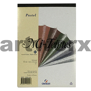 160gsm A5 15 Sheet Bright Colours Mi-Teintes Pastel Pad