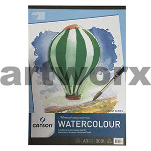 300gsm A3 12 Sheet Cold Press Canson Montval Cotton Watercolour Drawing Pad