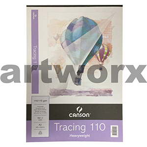 110gsm A2 50 Sheet Canson Tracing Paper Pad