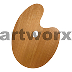 30x40cm Cappelletto Walnut Wooden Paint Palette