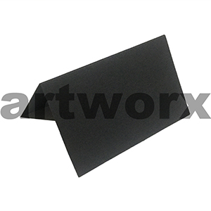 Black Capri Folded Place Card