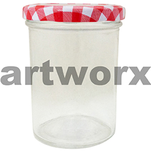 330ml Red Checkered Jam Jar