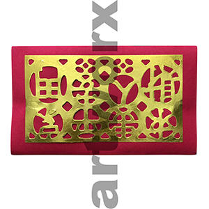 Red Printed Chinese Paper Per Sheet