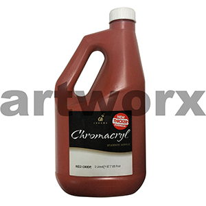 Red Oxide Chromacryl 2 litre Student Acrylic Paint