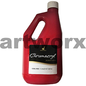 Cool Red Chromacryl 2 litre Student Acrylic Paint