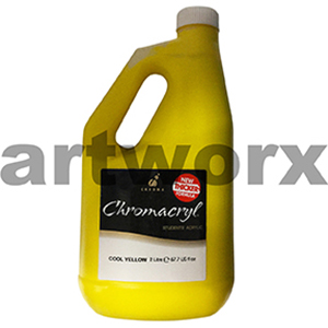Cool Yellow Chromacryl 2 litre Student Acrylic Paint