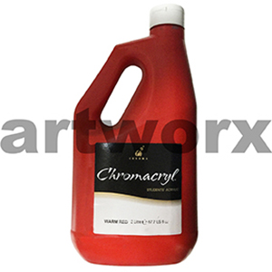 Warm Red Chromacryl 2 litre Student Acrylic Paint