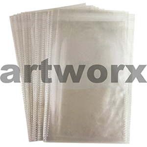 230x330mm +38mm Resealable Lip Clear Bags for Artwork 50pk