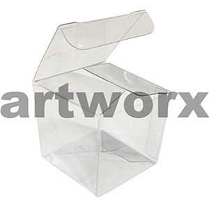 80mm Clear Cube Box with Tuck In Lid