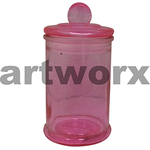 Pink Apothecary Jar Small