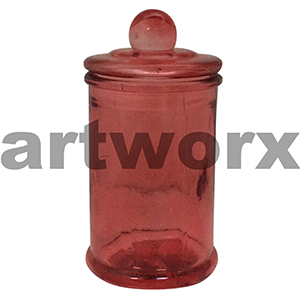 Red Apothecary Jar Small
