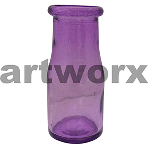 Purple Mini Milk & Soda Bottle