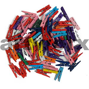 Coloured Mini Pegs Assorted Pack 35 Pce