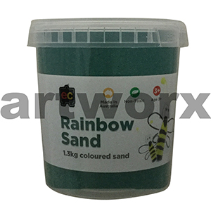 Dark Green Colored Sand 1kg