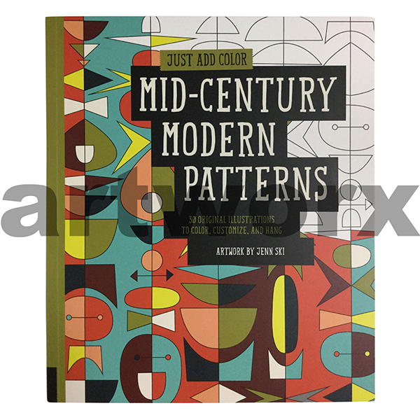 Colouring Book Mid Century Modern Patterns, Colouring Book for ...
