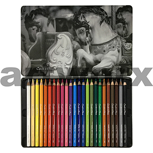 24pc Conte Pastel Pencil Tin