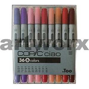 36pc Assorted B Ciao Copic Marker Set