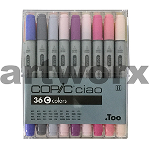 36pc Assorted C Ciao Copic Marker Set
