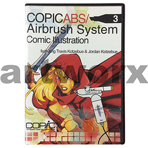 Copic ABS 3 Airbrush System Comic Illustration DVD