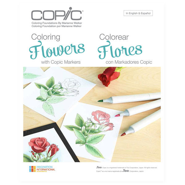 Copic Colouring Flowers Book