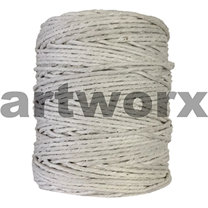 Cotton String Roll Thick White 117m