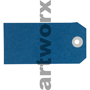 Blue Shipping Tag