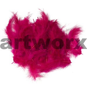 Craft Feathers Loose Marabou Cerise