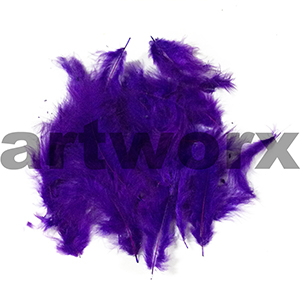Craft Feathers Loose Marabou Purple