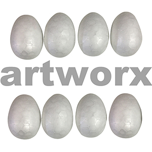Poly Eggs 50mm 8pc