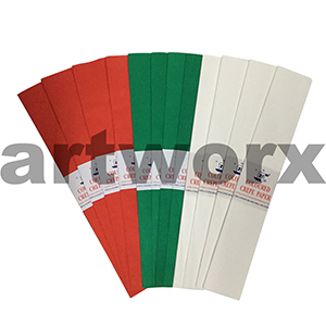 Christmas Colours 12 Pack Crepe Paper
