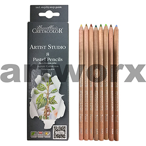 8pc Nature Cretacolor Artist Studio Pastel Pencils