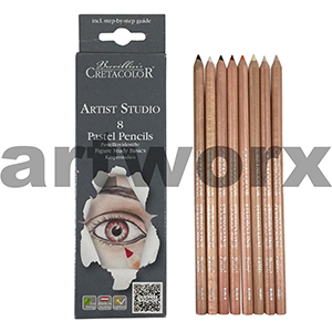8pc Figure Study Cretacolor Artist Studio Pastel Pencils