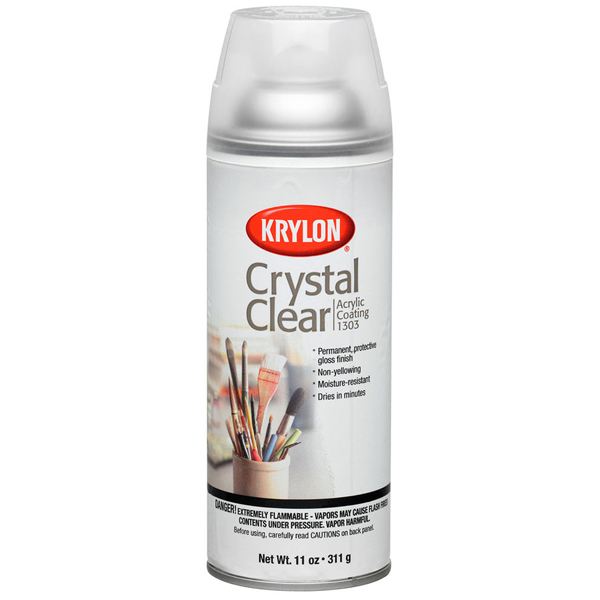 Crystal Clear Clear Acrylic Coating 1303A 311g Krylon Spray