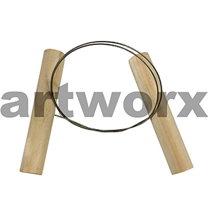 450mm Cutting Clay Wire Twisted Toggle Pottery Tool