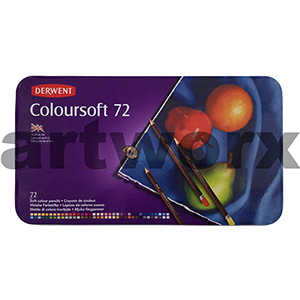 72pc Tin Colour Soft Derwent Pencils