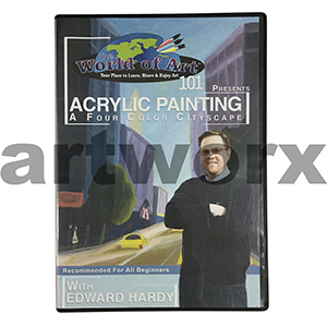 Acrylic Painting A Four Colour Cityscape with Edward Hardy DVD