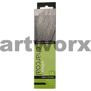 3-4mm 15pc Charcoal Willow