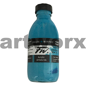 Turquoise Ink 180ml FW Daler Rowney